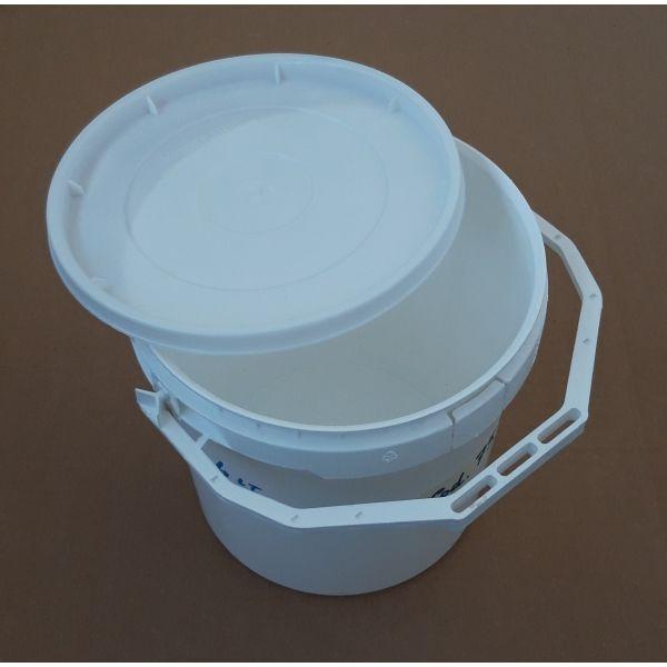 Secchio 4 litri raso bordo con manico incorporato e coperchio